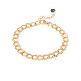 Armband dubbele schakel goud – Go Dutch Label