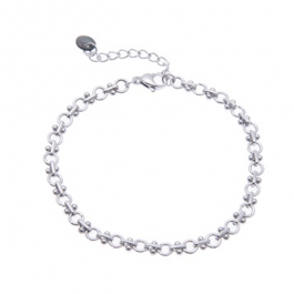 Armband schakel zilver – Go Dutch Label
