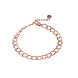 Armband dubbele schakel rose goud – Go Dutch Label