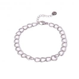 Armband dubbele schakel zilver – Go Dutch Label