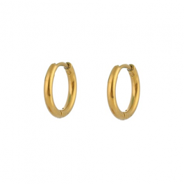 Oorbellen klassieke hoops goud 10 mm – Go Dutch Label