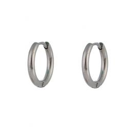 Oorbellen klassieke hoops zilver 10 mm – Go Dutch Label