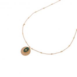 Ketting goud met groene north star hanger – Go Dutch Label