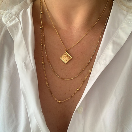 Ketting vierkante hanger goud – Go Dutch Label