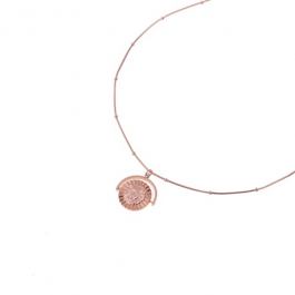 Ketting rose goud met ronde draaibare hanger – Go Dutch Label