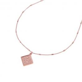 Ketting vierkante hanger rose goud – Go Dutch Label