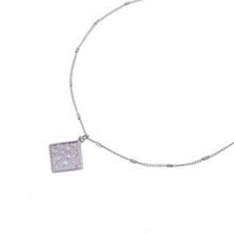 Ketting vierkante hanger zilver – Go Dutch Label