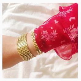 Armband goud flat basic breed – ZAG Bijoux