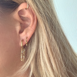 Oorbellen kleine hoops goud – Go Dutch Label