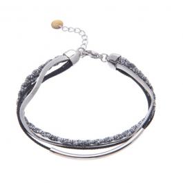 Armband dubbel zilver met zwart – Go Dutch Label