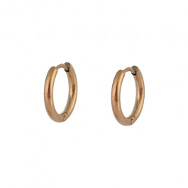 Oorbellen klassieke hoops rose goud 10 mm – Go Dutch Label