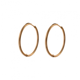 Oorbellen klassieke hoops goud 30 mm – Go Dutch Label