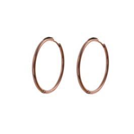 Oorbellen klassieke hoops rose goud 30 mm – Go Dutch Label