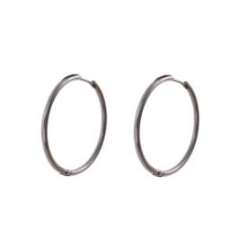 Oorbellen klassieke hoops zilver 30 mm – Go Dutch Label