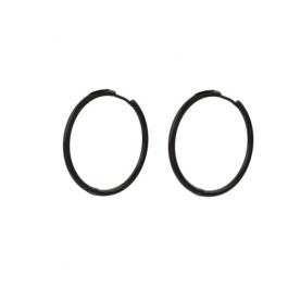 Oorbellen klassieke hoops zwart 30 mm – Go Dutch Label