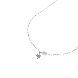 Ketting zilver met blauwe steen en zilveren ster- Go Dutch Label