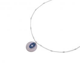 Ketting zilver met donkerblauwe north star hanger – Go Dutch Label