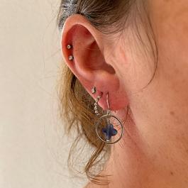 Oorbellen kleine hoops zilver rondjes – Go Dutch Label