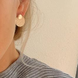 Oorbellen dubbel rondje rose goud – Go Dutch Label