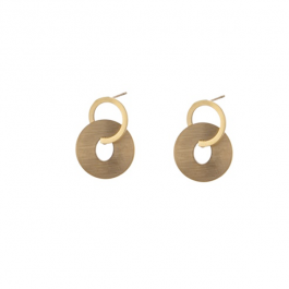 Oorbellen dubbele ring goud – Go Dutch Label