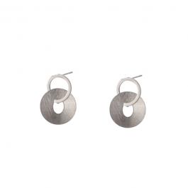 Oorbellen dubbele ring zilver – Go Dutch Label