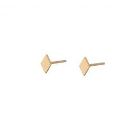 Oorbel stud ruitje goud oorbel – Go Dutch Label