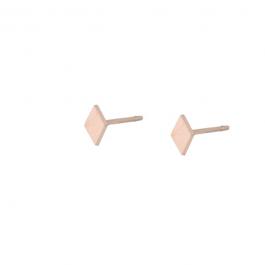 Oorbel stud ruitje rose goud oorbel – Go Dutch Label