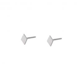 Oorbel stud ruitje zilver oorbel – Go Dutch Label