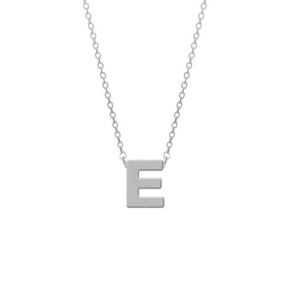ketting zilver met initial