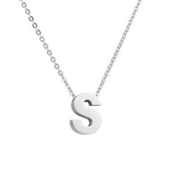 ketting zilver initial
