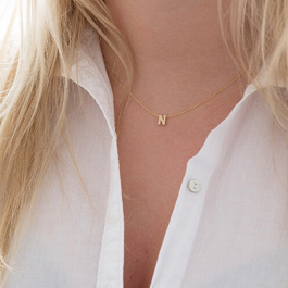Ketting met letter initialen – Custom Made by Mila