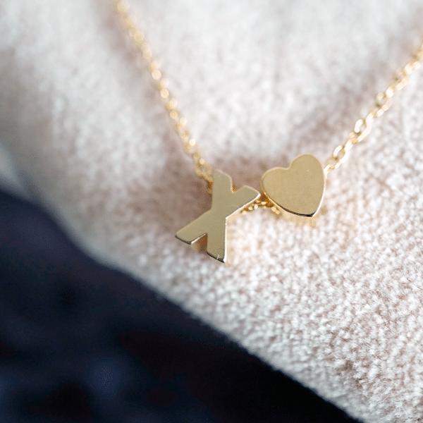 ketting goud initials