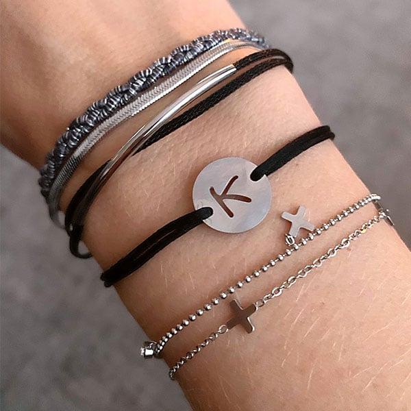 armbanden zilver zag bijoux made by mila