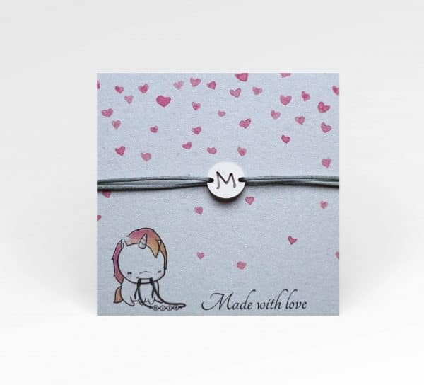 armband met letter sieradenwebshop made by mila