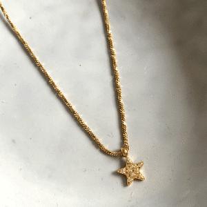 gouden ketting zag bijoux made by mila