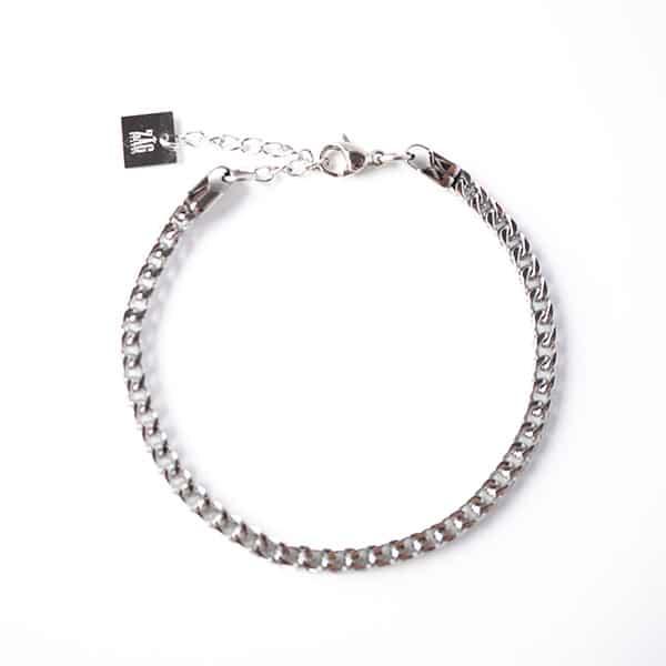 Armband-zag-bijoux-schakel-zilver