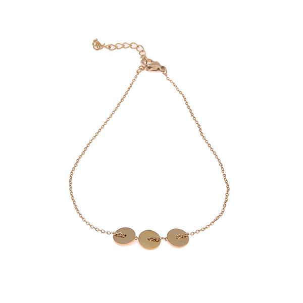 Gouden armband cirkels Go Dutch Label