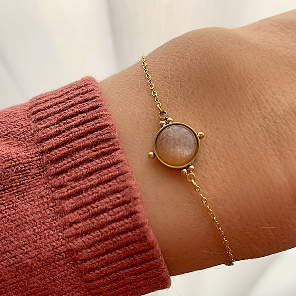armband-goud-rosequartz-zag-bijoux