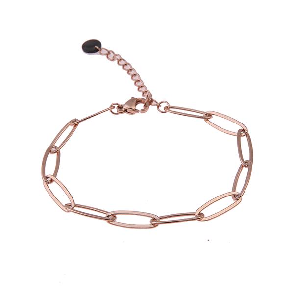 rosé armband lange schakels Go Dutch Label