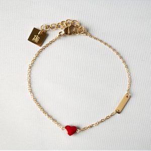 gouden armband met hartje zag bijoux