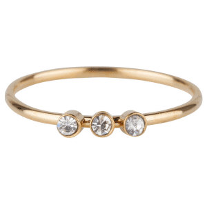 gouden 3 zirkonia''s ring Charmin's