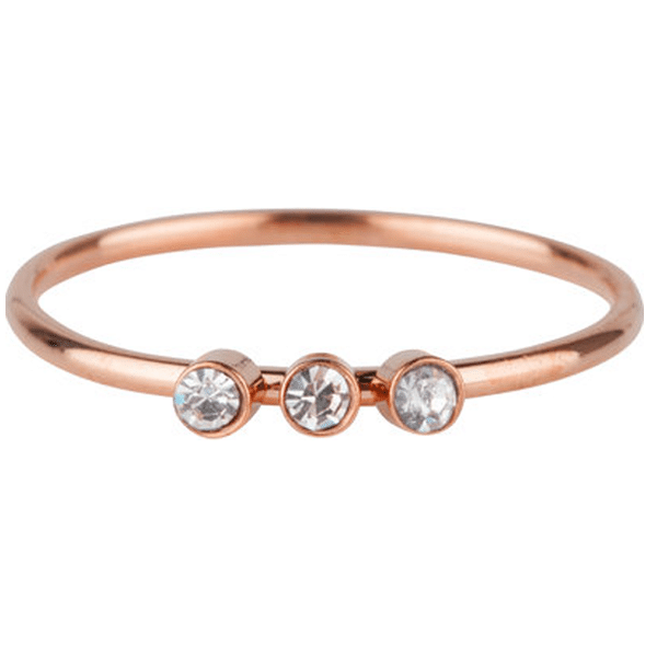 rosé 3 zirkonia's ring Charmin's