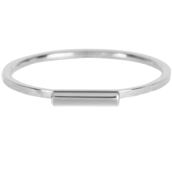 zilveren tube ring Charmin's