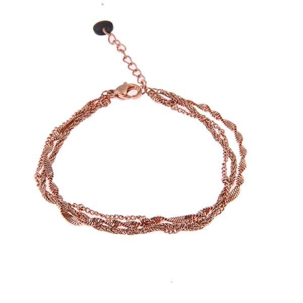 Rosé armband met schakels Go Dutch label