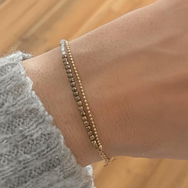 draagfoto armband goud Zag bijoux