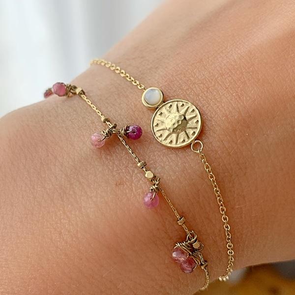 Made by Mila | Armband goud sunshine witte steen - ZAG Bijoux 4