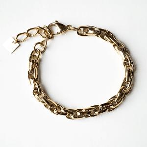 gouden schakelarmband zag bijoux