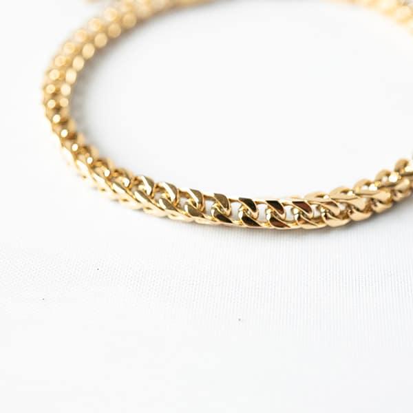 gouden schakel armband zag bijoux