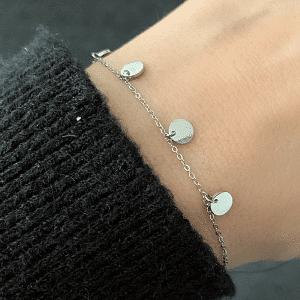 zilveren armband coins zag bijoux