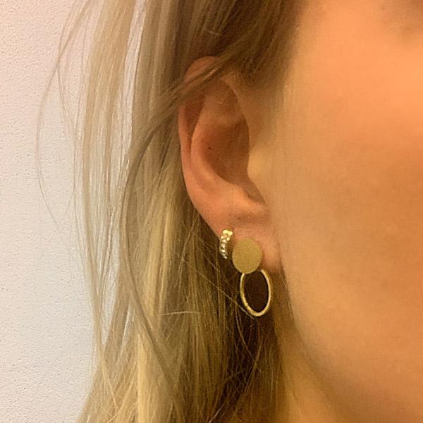 Gouden oorbellen cirkels Go Dutch label